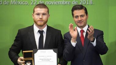 'Canelo' Álvarez recibe el Premio Nacional de Deportes 2018