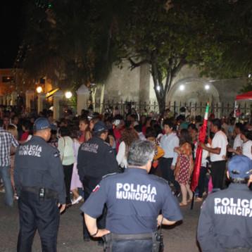 Cierre de calles en San Cristóbal por peregrinación de antorchistas