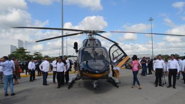 Video: Con nuevo helicóptero refuerzan la seguridad de Yucatán