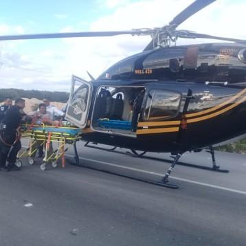 """""""Estrenan"""" helicóptero de la SSP, trasladan a dos lesionados de gravedad"""