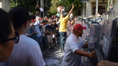 #Video: Tres detenidos durante protesta contra Vila
