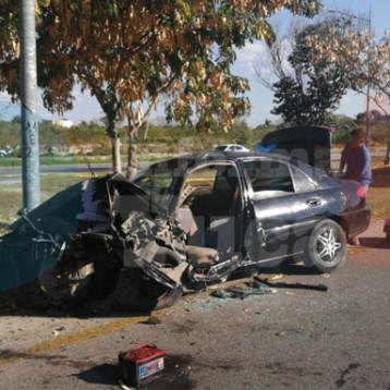 Familia lesionada en aparatoso accidente