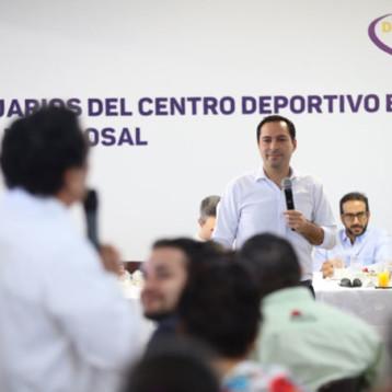 Pide Vila a usuarios del Deportivo Bancarios, fortalecer el tejido social