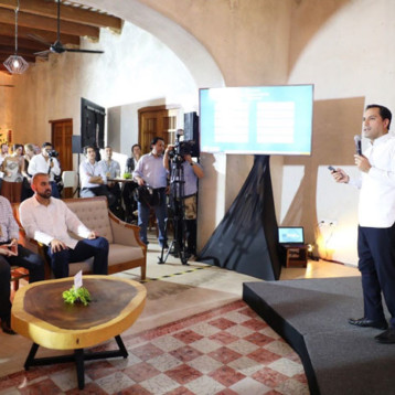 Gobernador presenta avances de Yucatán ante líderes de inversión de impacto