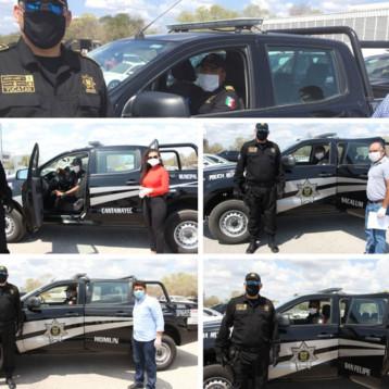 Entregan vehículos policiales a cinco municipios