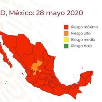 Todo México, salvo Zacatecas, está en riesgo máximo por COVID-19, según semáforo federal