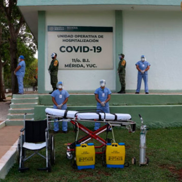 Sedena habilita en Mérida hospital para pacientes Covid