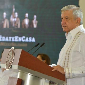 Yucatán va a la baja en casos de Covid19, dice AMLO