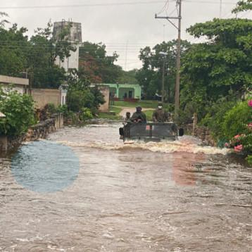 Evacúan a familias de Yaxcabá por inundaciones