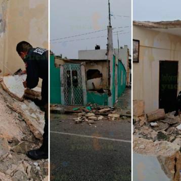 Colapsa techo de vivienda en Progreso