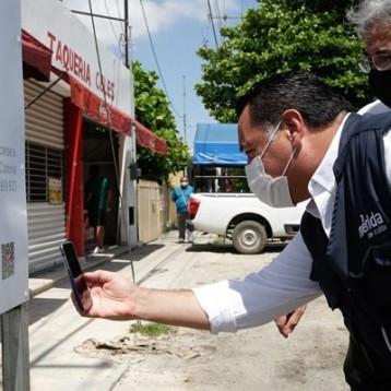 Mediante código QR ciudadanos podrán consultar detalles de obras en Mérida