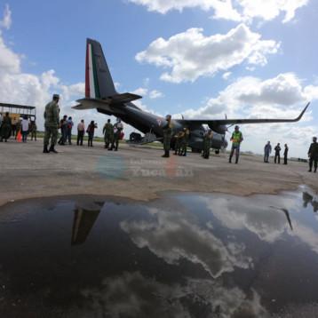 Llegan respiradores, monitores y equipo de protección para hospitales covid de militares