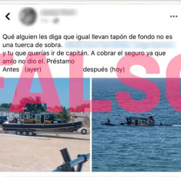 Van por autor de 'fake news' sobre nuevas lanchas de la SSP