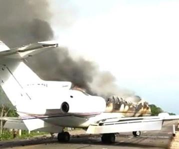 Avioneta incendiada en Quintana Roo venía de Venezuela