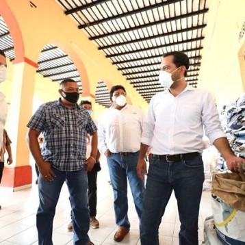 Llegan apoyos a Chumayel y Cantamayec