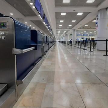 Aeropuertos de Mérida y Cancún operando al 25 por ciento