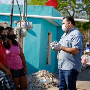 Entregan más de 230 mil paquetes alimentarios en Mérida