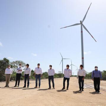 Inauguran el Parque Eólico de Progreso