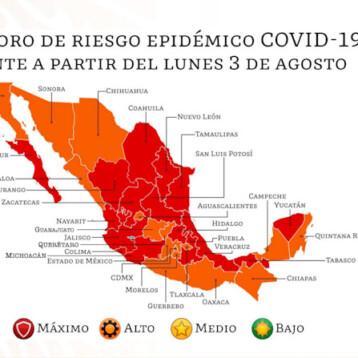 Semáforo rojo para Yucatán