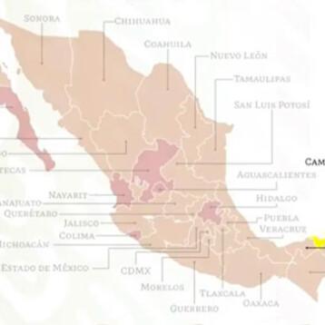 Campeche, primer estado del país que pasa a color amarillo en semáforo de COVID-19