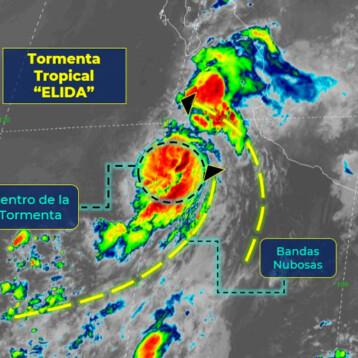 En alerta, Jalisco y Nayarit por llegada de la tormenta 'Elida'