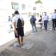 Mauricio Sauri y Aref Karam supervisan paraderos y camiones