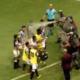 La Policía Militar roció gas pimienta a jugadores