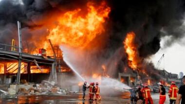 A un mes de la explosión, se registra un incendio en Beirut