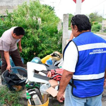 Alistan segunda campaña de descacharrización en Mérida y comisarías