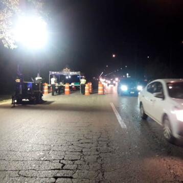 Cuatro detenidos por conducir alcoholizados durante los festejos patrios