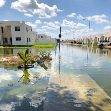 Insisten que inundaciones se debe a récord lluvias