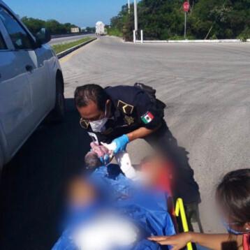 Nacen dos bebés en carreteras yucatecas