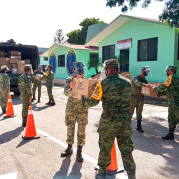 Arriban más abastecimientos para hospitales COVID-19 de la SEDENA en Yucatán