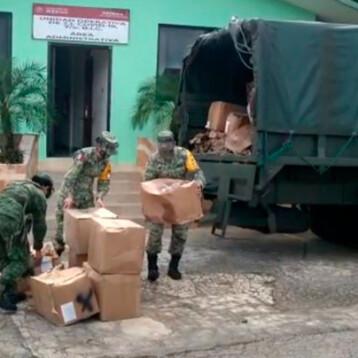 Llegan insumos médicos para hospitalesCOVID-19 de la SEDENA en Yucatán