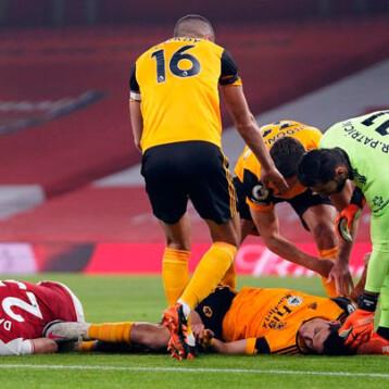Raúl Jiménez se recupera tras sufrir fractura de cráneo durante el partido