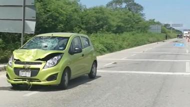 Mortal accidente en la Mérida-Campeche