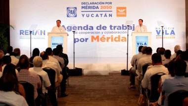 Cierran filas por Mérida