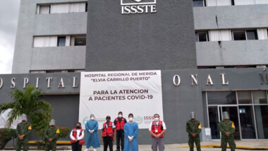 Alistan protocolos de vacunación anticovid en hospitales de Mérida