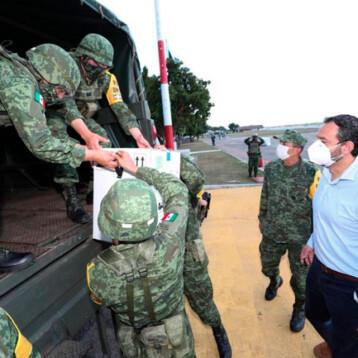 Yucatán ya recibió 12 mil 674 vacunas anticovid