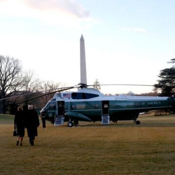 "Donald Trump dejó la Casa Blanca y prometió: ""Vamos a volver"""