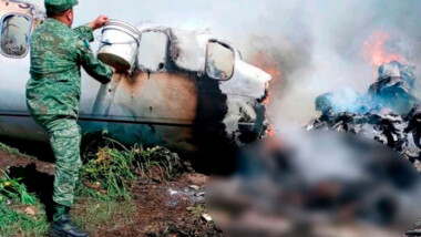 Se desploma avioneta de la Fuerza Aérea Mexicana en Veracruz