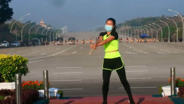 """Maestra de aerobics capta """"sin querer"""" el golpe de estado en Myanmar"""