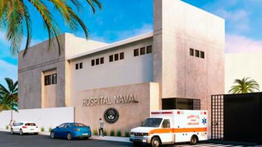 Funcionarios federales supervisan construcción del Hospital General Naval de Progreso