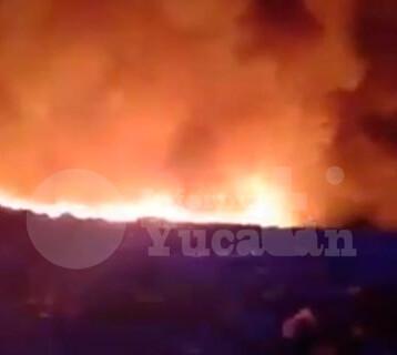 Se incendia el relleno sanitario de Mérida