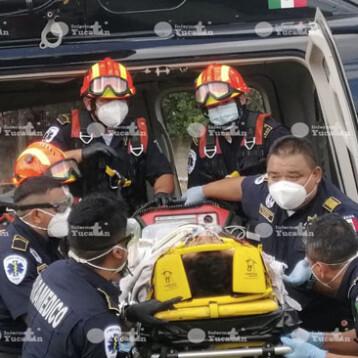 Ticul: Trasladan en helicóptero a lesionado grave