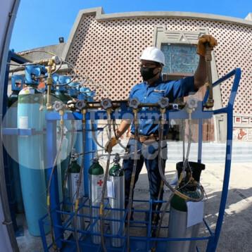 Recargas gratuitas de tanques de oxígeno en el Parque de las Américas