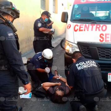 Chofer del FUTV atropella a mujer en el Centro