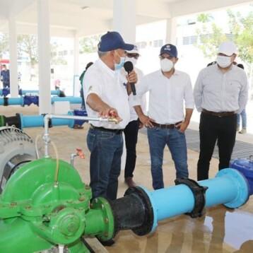 Construyen nuevos cárcamos de agua en Polígono 108 y Pacabtún