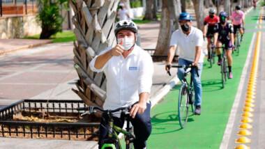 Rentarán bicicletas en Mérida propone Renán Barrera
