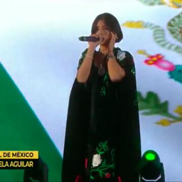 No contravino ninguna ley la interpretación del himno nacional de Ángela Aguilar: Segob